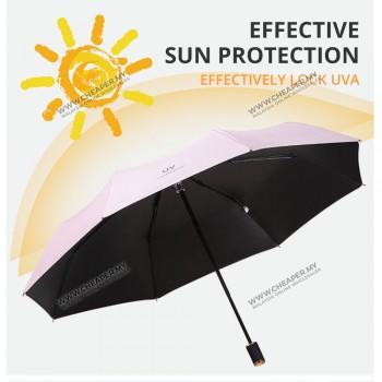Umbrella UV Fashion Automatic Dual Use Open Close Pole Foldable Windproof handed Hujan Payung Rain Umbrella