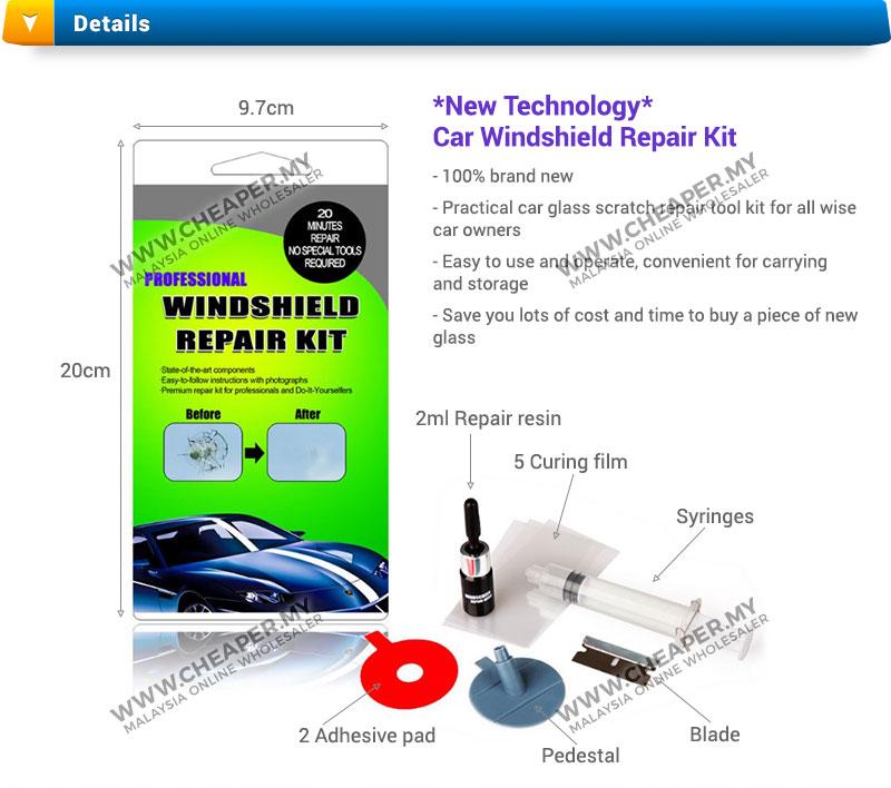 car windshield windscreen chip crack diy repair kit new technology. Black Bedroom Furniture Sets. Home Design Ideas