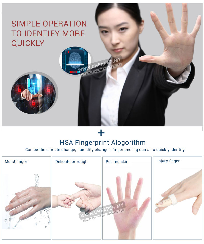 High Quality Office Fingerprint Attendance Machine Punch Tag
