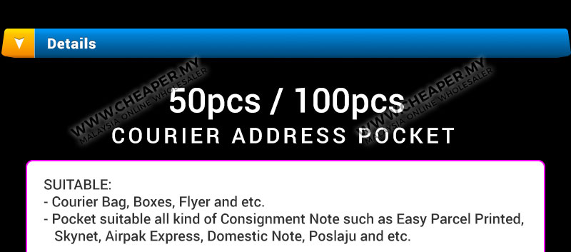Pcs   Pcs Consignment Note Courier Address Plastic Flyer Pocket