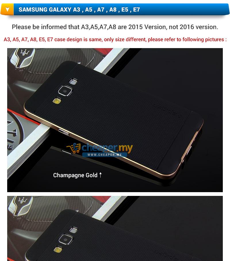 Samsung Galaxy A3 A5 A7 A8 E5 E7 Spigen Neo Hybrid Cover